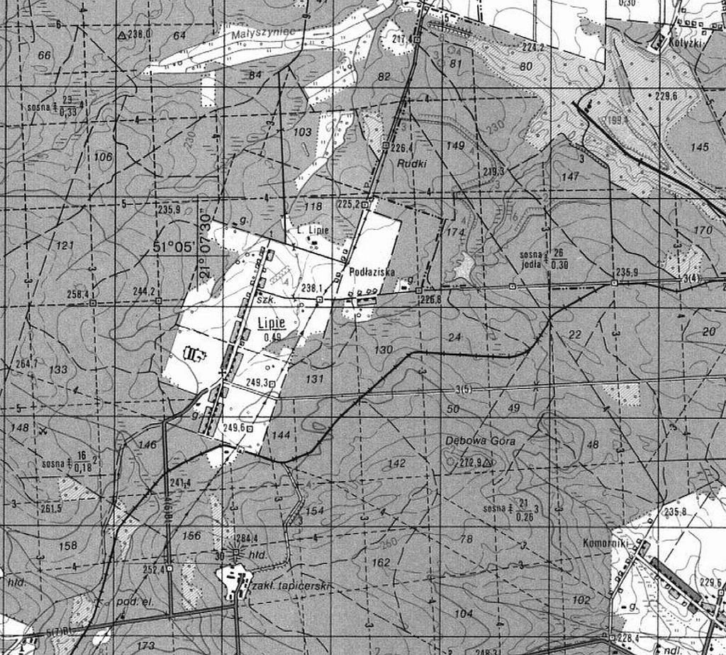 1987-stara-mapa-sztabowa-brody-starachowice-swietokrzyskie-lipie-a.JPG